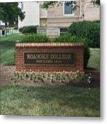 Roanoke College Sign Metal Print