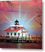 Roanoke Marshes Lighthouse, Manteo, North Carolina Metal Print