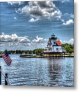 Roanoke River Lighthouse No. 2a Metal Print