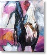Roanoke Rooster Painting Metal Print