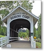 Roaring Camp Covered Bridge Metal Print