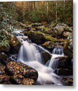 Roaring Fork Waterfall At Autumn Metal Print by Andrew Soundarajan