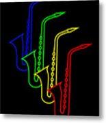 Roaring Jazz Metal Print