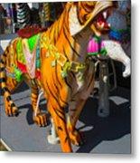 Roaring Tiger Ride Metal Print