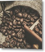 Roasted Coffee Beans In Close-up  Metal Print