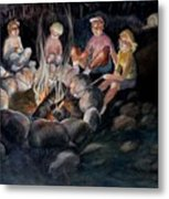 Roasting Marshmallows Metal Print