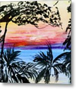 Roatan Sunset Metal Print