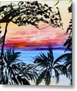 Roatan Sunset Metal Print