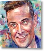 Robbie Williams Portrait Metal Print