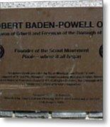 Robert Baden-powell Plaque Metal Print