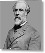 Robert E Lee - Confederate General Metal Print