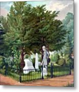 Robert E. Lee Visits Stonewall Jackson's Grave Metal Print by War Is Hell Store