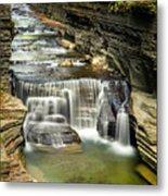 Robert H. Treman State Park Gorge Upper Falls Metal Print