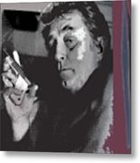 Robert Mitchum As Phillip Marlowe Neo Film Noir  The Big Sleep  1978. Metal Print
