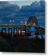 Robert Moses Bridge At Dusk Metal Print
