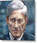 Robert Mueller Portrait , Head Of The Special Counsel Investigation Metal Print