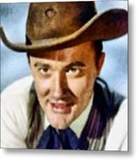 Robert Vaughn, Vintage Actor Metal Print
