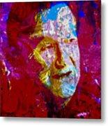 Robin Williams Paint Splatter Metal Print