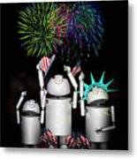 Robo-x9 And Family Celebrate Freedom Metal Print