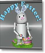Robo-x9 The Easter Bunny Metal Print