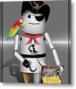 Robo-x9 The Pirate Metal Print