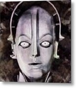 Robot From Metropolis Metal Print