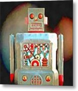 Robot Pop Art R-1 Metal Print