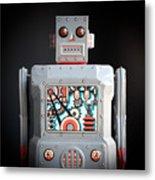 Robot R-1 Square Metal Print
