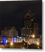 Rochester Skyline From Freddie-sue Bridge Metal Print