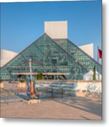 Rock And Roll Hall Of Fame I Metal Print by Clarence Holmes