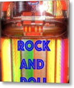 Rock And Roll Jukebox Metal Print