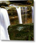 Rock And Waterfall Metal Print