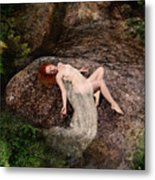 Rock Bathing Metal Print