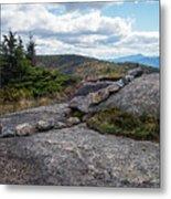 Rock Boundaries On Casecade Mountain Keene Ny New York Metal Print