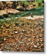 Rock Cairn At Buddha Beach - Sedona Metal Print