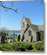 Rock Church Cornwall Metal Print