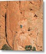 Rock Climbers  Metal Print
