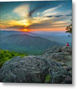 Rock Climbing At Ravens Roost Metal Print