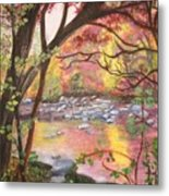 Rock Creek Autumn Metal Print