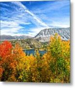 Rock Creek Lake Fall Panorama Metal Print