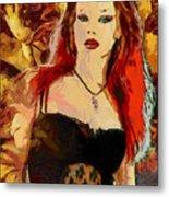 Rock Diva Metal Print