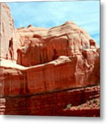 Rock Formation Of Red Sandstone Arches National Park Metal Print