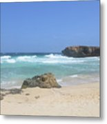 Rock Formation On Boca Keto On The Island Of Aruba Metal Print