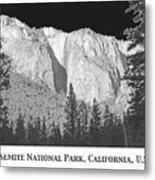 Rock Formation Yosemite National Park California Metal Print