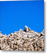 Rock Formations And Blue Sky Metal Print
