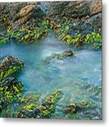 Rock Formations In The Sea, Bird Rock Metal Print