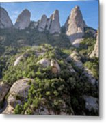 Rock Formations Montserrat Spain Metal Print