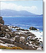 Rock Formations On The Coast, 17-mile Metal Print