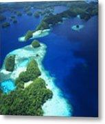 Rock Islands Aerial Metal Print