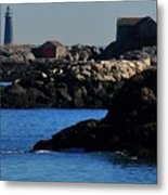Rock Islands And Minots Light Metal Print